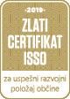 Zlati certifikat ISSO za uspešni razvojni položaj občine